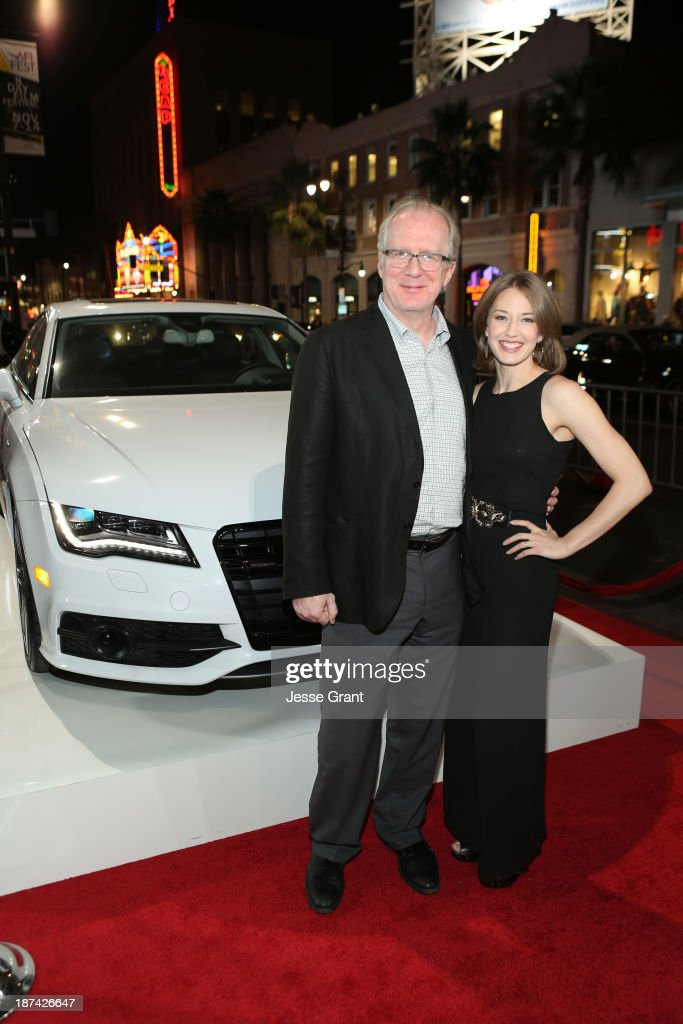Writer <a gi-track='captionPersonalityLinkClicked' href=/galleries/search?phrase=Tracy+Letts&family=editorial&specificpeople=4694707 ng-click='$event.stopPropagation()'>Tracy Letts</a> (L) and actress Carrie Coon attend the premiere of The Weinstein Company's 'August: Osage County' during AFI FEST 2013 presented by Audi at TCL Chinese Theatre on November 8, 2013 in Hollywood, California.