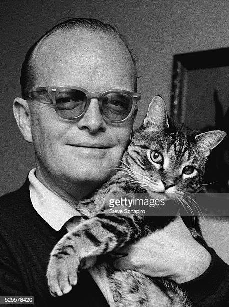 Writer Truman Capote poses for a portrait while in town for the fiming of 'In Cold Blood' based on his novel