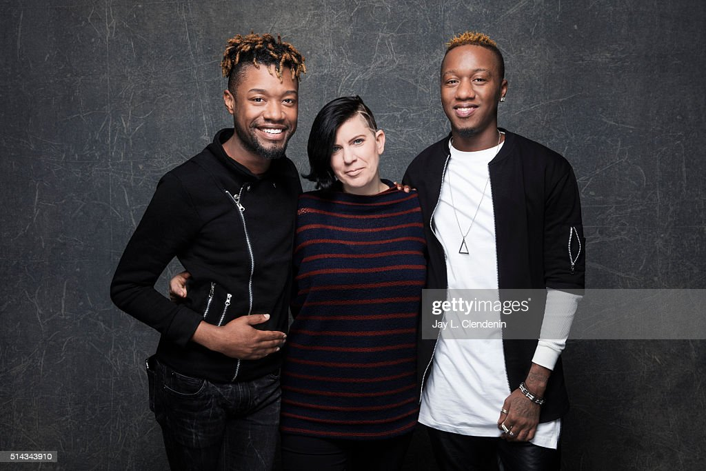 Writer Twiggy Pucci Garcon and and writer/director Sara Jordeno from the film 'Kiki' pose for a portrait at the 2016 Sundance Film Festival on January 26, 2016 in Park City, Utah.