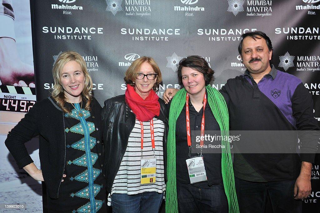 Writer Vendela Vida, producer Michelle Satter, director Eva Weber and producer Rohit Khattar attend the Sundance Institute Mahindra Global Filmmaking Award Reception at Sundance House on January 22, 2013 in Park City, Utah.
