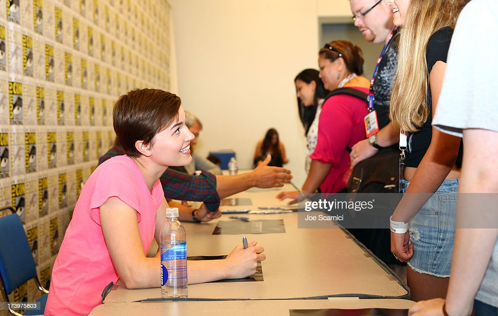 Writer Veronic Roth attends the 'Ender's Game' and 'Divergent' cast autograph signing during Comic-Con International 2013 at San Diego Convention Center on July 18, 2013 in San Diego, California.