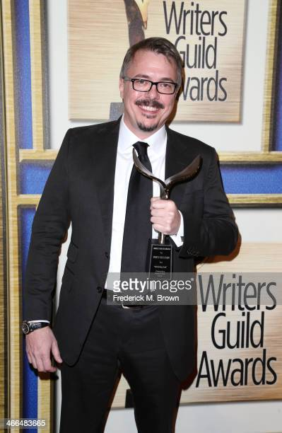 Writer Vince Gilligan is honored at the 2014 Writers Guild Awards LA Ceremony at the JW Marriott Los Angeles at LA LIVE on February 1 2014 in Los...