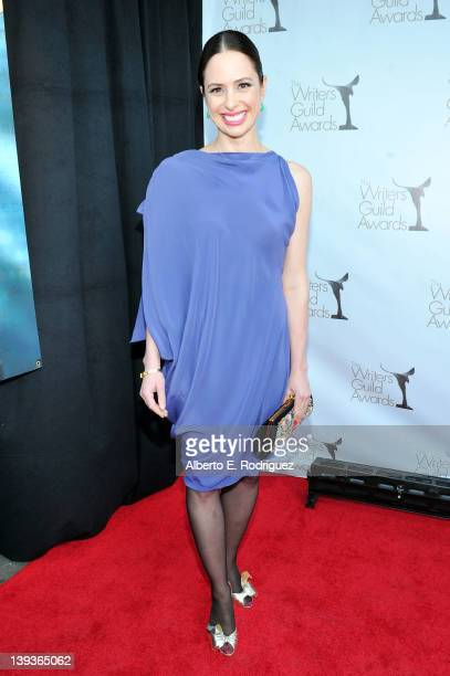 Writer Wendy West arrives at the 2012 Writers Guild Awards at the Hollywood Palladium on February 19 2012 in Los Angeles California