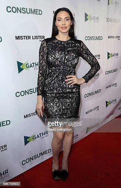 Writer Whitney Cummings attends the premiere of Mister Lister Film's 'Consumed' at the Laemmle Music Hall on November 11 2015 in Beverly Hills...