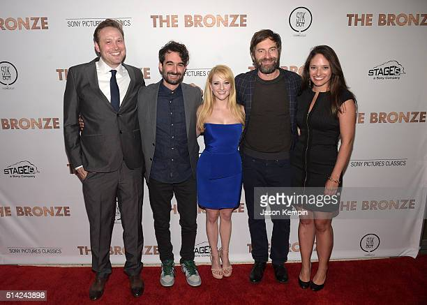 Writer Winston Rauch executive producer Jay Duplass writer/actress Melissa Rauch executive producer Mark Duplass and producer Stephanie Langhoff...