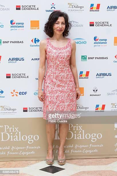 Writer Yasmina Reza Llosa attends 'Prix del Dialogo' award 2016 press conference on June 7 2016 in Madrid Spain