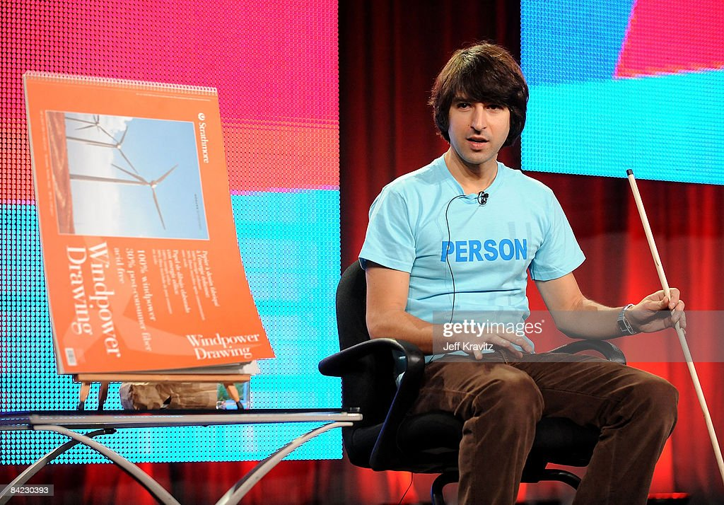 Writer/actor Demetri Martin speaks during MTV's 2008 Winter Television Critics Association Press Tour held at the Universal Hilton Hotel on January 9, 2009 in Universal City, California.
