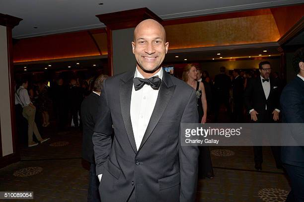 Writer/actor KeeganMichael Key attends the Cocktail Reception before the 2016 Writers Guild Awards at the Hyatt Regency Century Plaza on February 13...