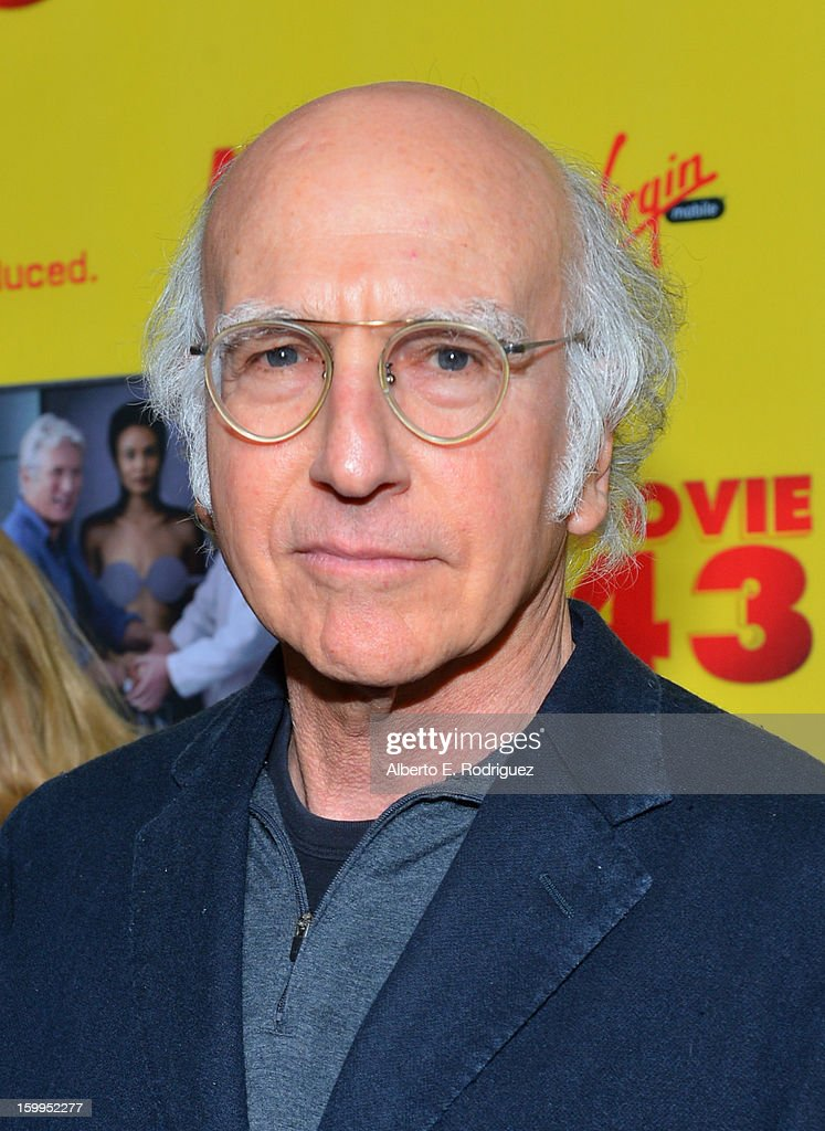 Writer/actor <a gi-track='captionPersonalityLinkClicked' href=/galleries/search?phrase=Larry+David&family=editorial&specificpeople=125184 ng-click='$event.stopPropagation()'>Larry David</a> attends Relativity Media's 'Movie 43' Los Angeles Premiere held at the TCL Chinese Theatre on January 23, 2013 in Hollywood, California.