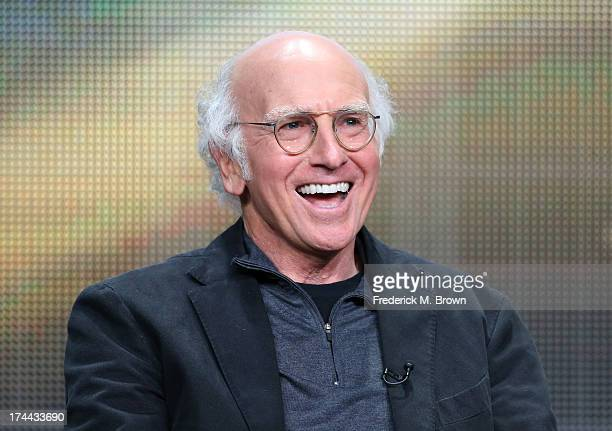 Writer/Actor Larry David speaks onstage during the 'Clear History' panel discussion at the HBO portion of the 2013 Summer Television Critics...