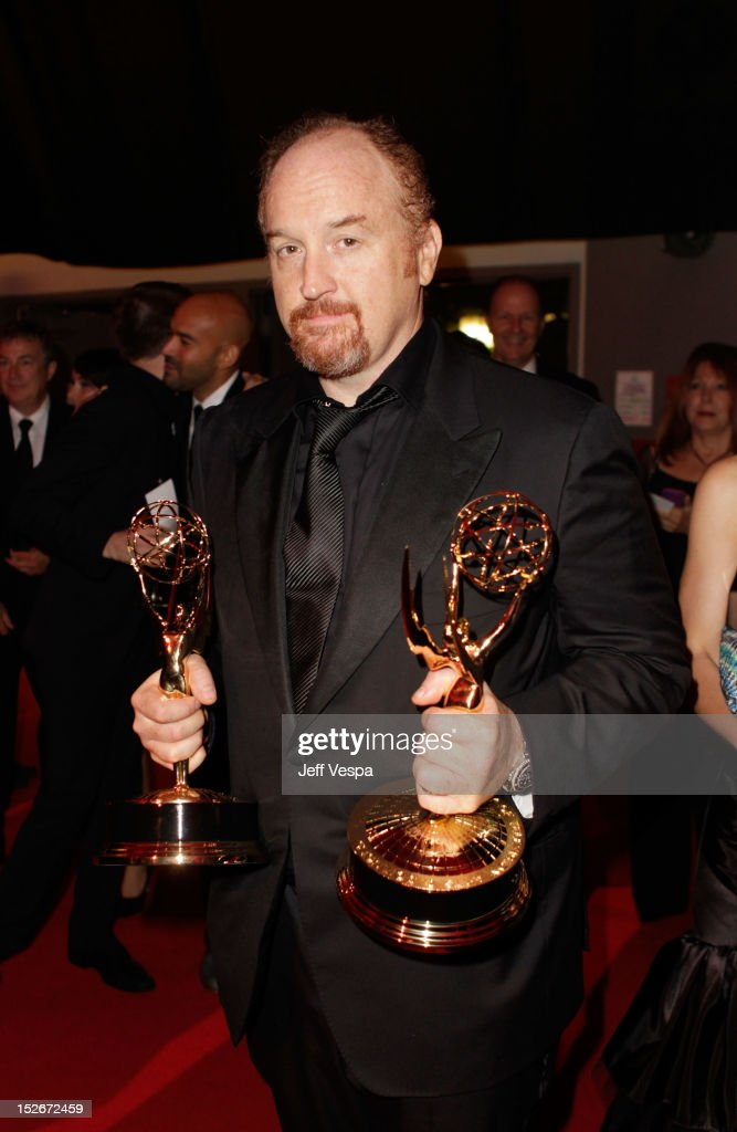 Writer/actor <a gi-track='captionPersonalityLinkClicked' href=/galleries/search?phrase=Louis+C.K.&family=editorial&specificpeople=2538284 ng-click='$event.stopPropagation()'>Louis C.K.</a> attends the 64th Primetime Emmy Awards Governors Ball at Los Angeles Convention Center on September 23, 2012 in Los Angeles, California.