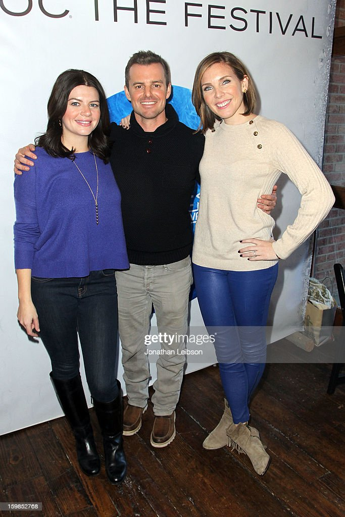 Writer/actress Casey Wilson director Chris Nelson and writer/actress June Diane Raphael attend Day 3 of the Variety Studio At 2013 Sundance Film...