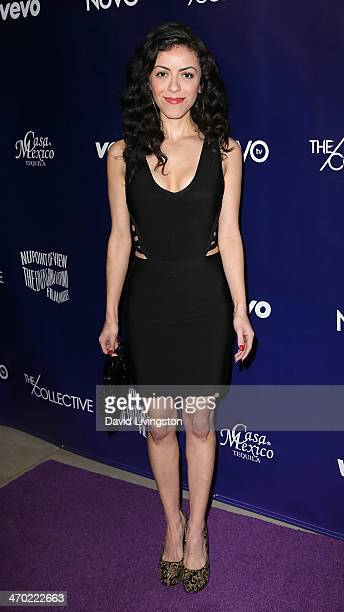 Writer/actress Grace Parra attends the NUVOtv Series Launch Party at Siren Studios on February 18 2014 in Hollywood California