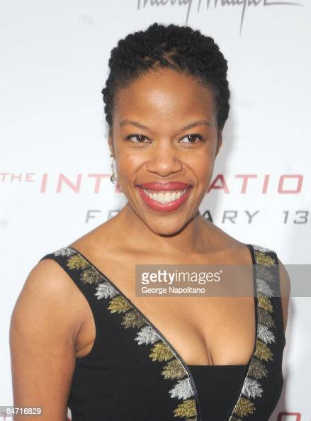 Writer/actress Nilaja Sun attends the Cinema Society and Angel by Thierry Mugler screening of 'The International' at AMC Lincoln Square on February 9...