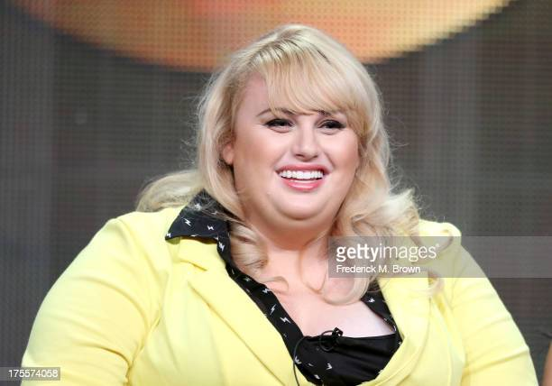 Writer/actress Rebel Wilson speaks onstage during the 'Super Fun Night' panel discussion at the Disney/ABC Television Group portion of the Television...