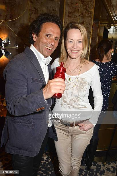 Writer/Baby Brand founder Gerald Cohen and Gabrielle Lazure attend the 'Baby Brand Awards 2015' At Cafe Francais on April 16 2015 in Paris France