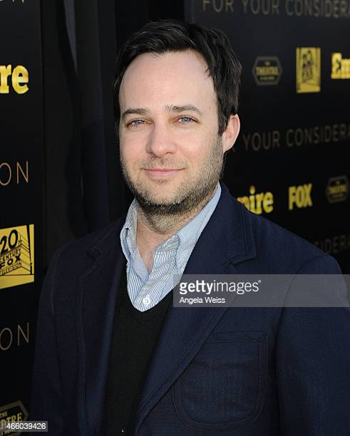 Writer/Creator Danny Strong arrives at Fox's 'Empire' ATAS Academy Event at The Theatre at The Ace Hotel on March 12 2015 in Los Angeles California