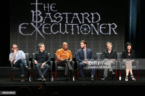 Writer/creator Kurt Sutter executive producer Brian Grazer producer/director Paris Barclay and actors Lee Jones Stephen Moyer and Katey Sagal speak...