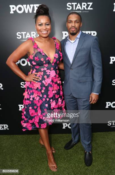 Writer/Creator/EP Courtney Kemp and Michael Ferguson attend STARZ 'Power' Season 4 LA Screening And Party at The London West Hollywood on June 23...