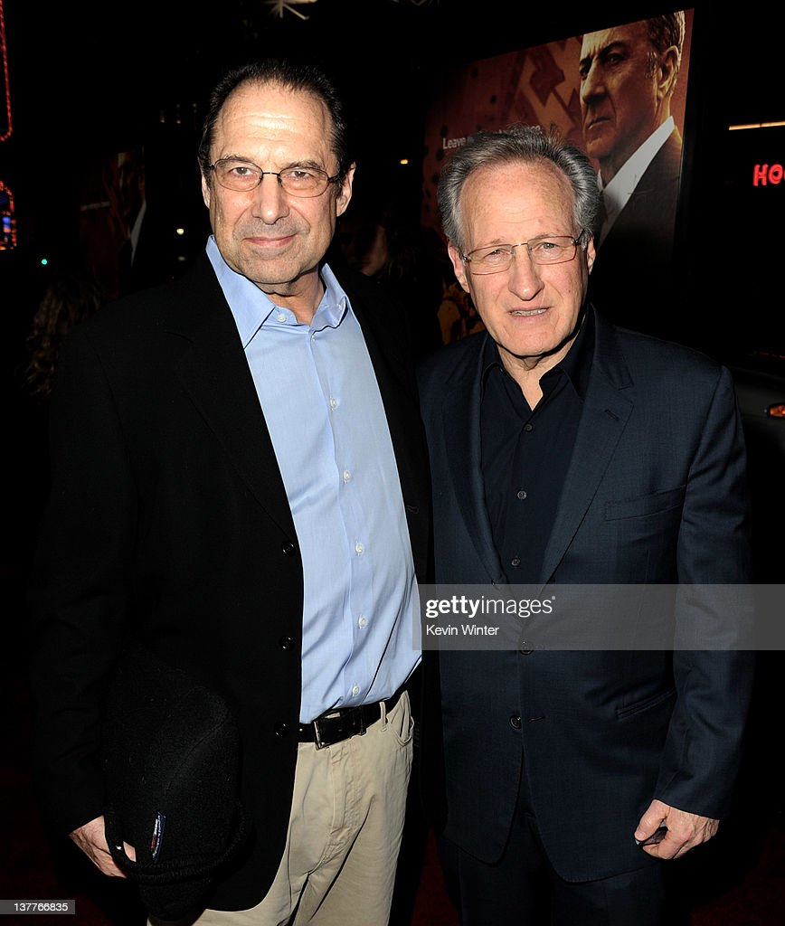 Writer/creator/executive producer <a gi-track='captionPersonalityLinkClicked' href=/galleries/search?phrase=David+Milch&family=editorial&specificpeople=577999 ng-click='$event.stopPropagation()'>David Milch</a> (L), executive producer/director <a gi-track='captionPersonalityLinkClicked' href=/galleries/search?phrase=Michael+Mann&family=editorial&specificpeople=203157 ng-click='$event.stopPropagation()'>Michael Mann</a> arrive at the premiere of HBO's 'Luck' at the Chinese Theater on January 25, 2012 in Los Angeles, California.