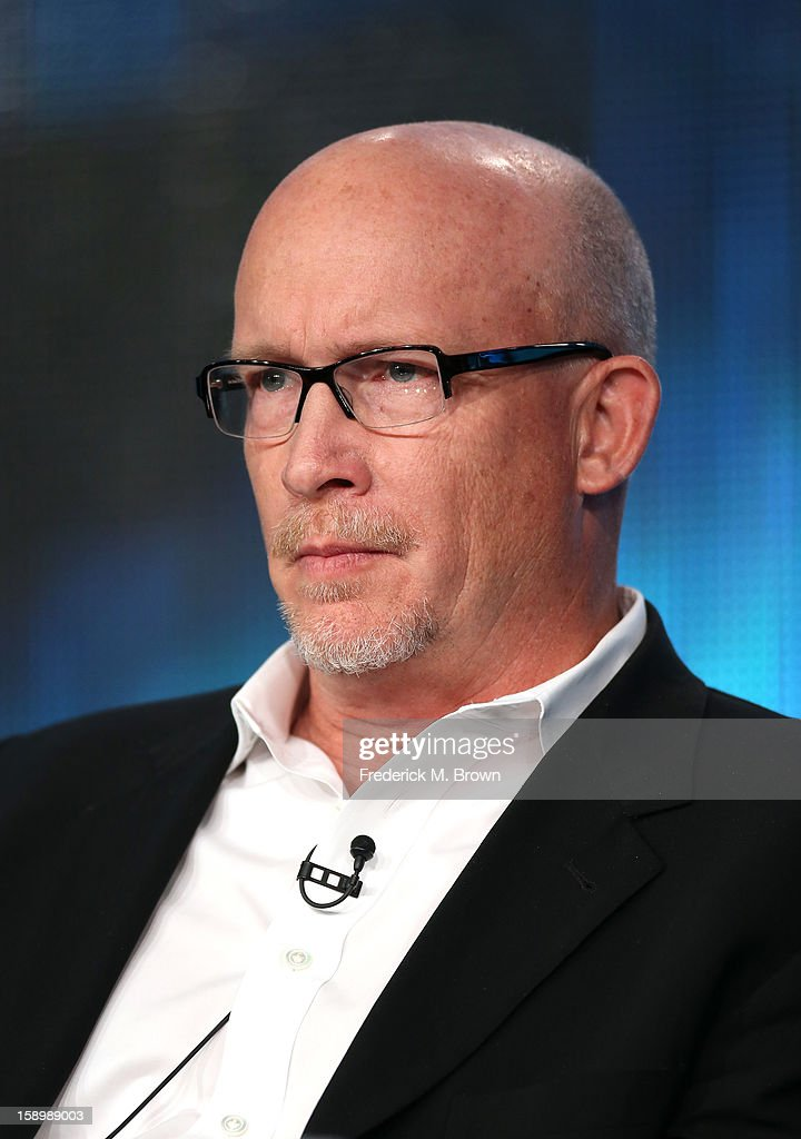 Writer/Director Alex Gibney, speaks onstage during the 'Mea Maxima Culpa: Silence in the House of God' panel discussion at the HBO portion of the 2013 Winter TCA Tourduring 2013 Winter TCA Tour - Day 1 at Langham Hotel on January 4, 2013 in Pasadena, California.