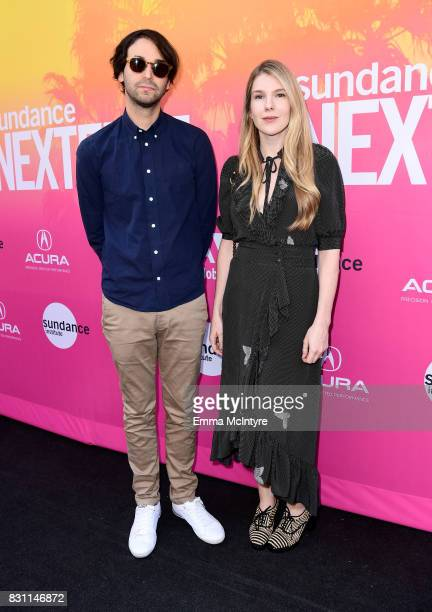 Writer/director Alex Ross Perry and actor Lily Rabe attend 2017 Sundance NEXT FEST at The Theater at The Ace Hotel on August 13 2017 in Los Angeles...