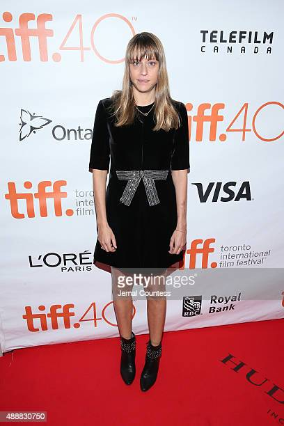 Writer/Director Alice Winocour attends the 'Disorder' premiere during the 2015 Toronto International Film Festival at Roy Thomson Hall on September...