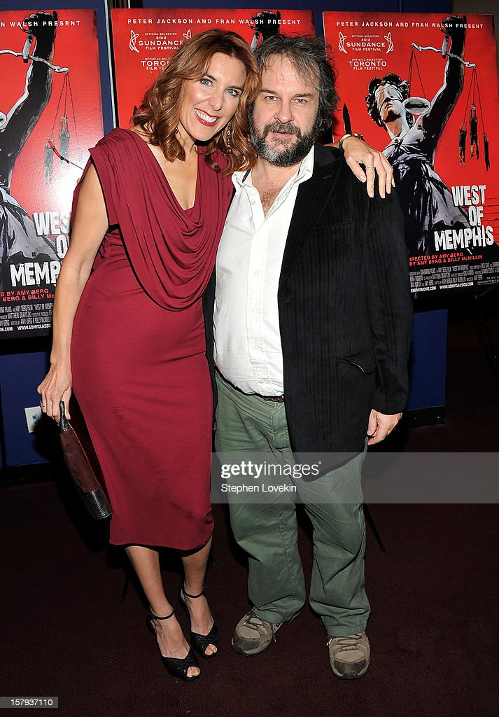 Writer/director Amy Berg and producer Peter Jackson attend the New York premiere of 'West Of Memphis' at Florence Gould Hall on December 7, 2012 in New York City.