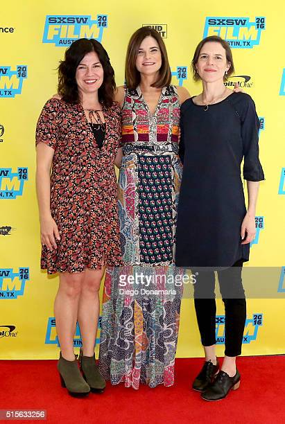 Writer/director Annie J Howell actress Betsy Brandt and writer/director Lisa Robinson attend the premiere of 'Claire in Motion' during the 2016 SXSW...