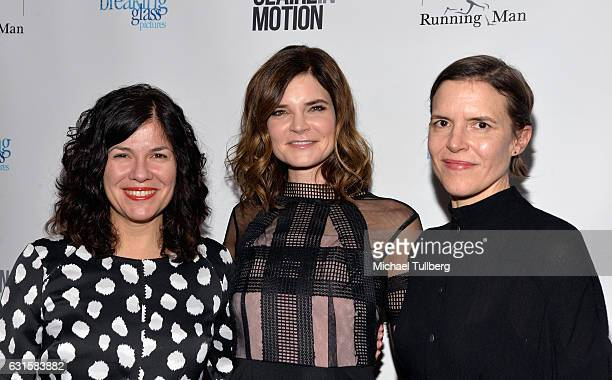 Writer/director Annie J Howell actress Betsy Brandt and writer/director Lisa Robinson attend the premiere Of Breaking Glass Pictures' 'Claire In...