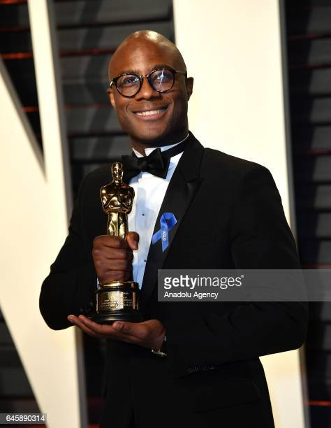 Writer/director Barry Jenkins winners of Best Adapted Screenplay for 'Moonlight' arrive at the Vanity Fair Oscar Party in Beverly Hills California...