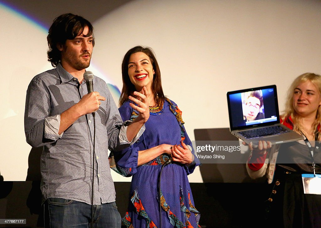 Writer/director Carlos Marques-Marcet, actress <a gi-track='captionPersonalityLinkClicked' href=/galleries/search?phrase=Natalia+Tena&family=editorial&specificpeople=4356716 ng-click='$event.stopPropagation()'>Natalia Tena</a> and cinematographer Dagmar Weaver-Madsen speak onstage at the '10,000KM (Long Distance)' Photo Op and Q&A during the 2014 SXSW Music, Film + Interactive Festival at Alamo Ritz on March 10, 2014 in Austin, Texas.