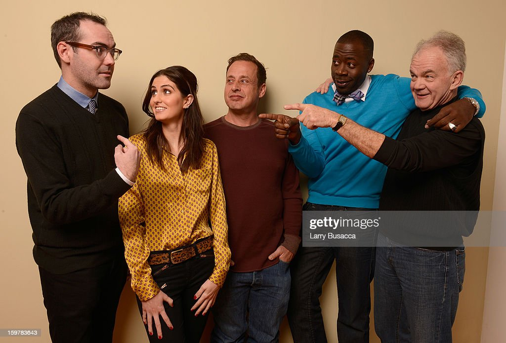 Writer/director Chad Hartigan and actors Sam Buchanan, Richmond Arquette, Demetrius Grosse and Paul Eenhoorn pose for a portrait during the 2013 Sundance Film Festival at the Getty Images Portrait Studio at Village at the Lift on January 20, 2013 in Park City, Utah.