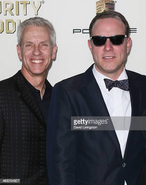 Writer/director Chris Sanders and writer/director Kirk De Micco attend the 19th Annual Critics' Choice Movie Awards at Barker Hangar on January 16...