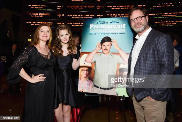 Writer/Director Colette Burson actress Kira McLean and actor Rainn Wilson attend Magnolia Pictures' Los Angeles premiere of 'Permanent' at ArcLight...