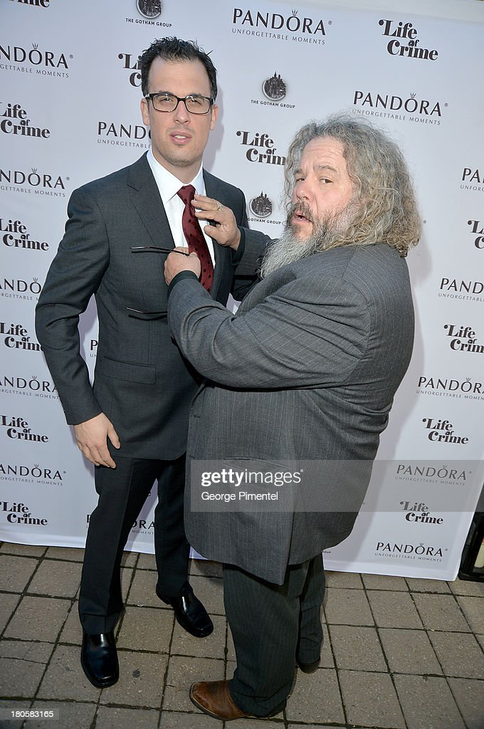Writer/Director Daniel Schechter (L) and actor Mark Boone Junior attend the 'Life of Crime' cocktail reception presented by PANDORA Jewelry at Hudson Kitchen during the 2013 Toronto International Film Festival on September 14, 2013 in Toronto, Canada.