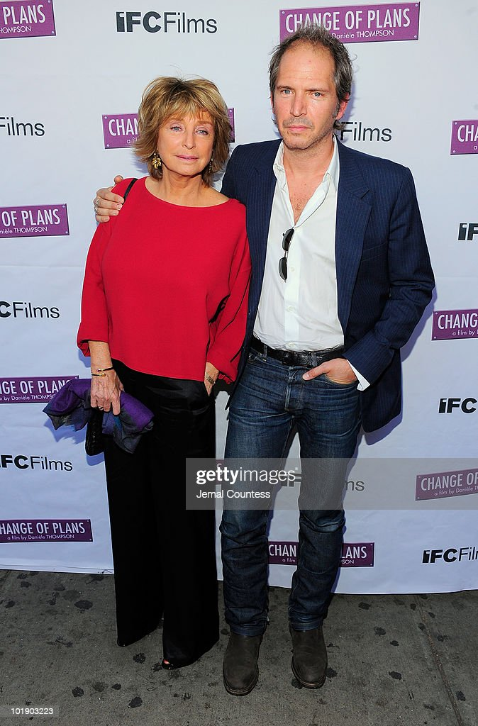 Writer\director Daniele Thompson and writer\actor Christopher Thompson pose for a photo at the premiere of 'Change Of Plans' at the IFC Center on June 8, 2010 in New York City.
