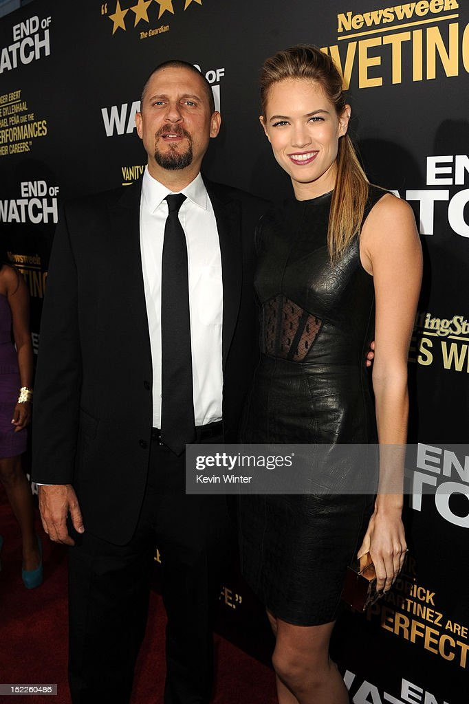 Writer/director David Ayer and actress Cody Horn arrive at the premiere of Open Road Films' 'End of Watch' at Regal Cinemas L.A. Live on September 17, 2012 in Los Angeles, California.