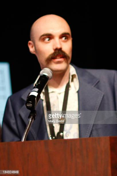 Writer/director David Lowery speaks onstage during the 2011 SXSW Music Film Interactive Festival Film Awards at Vimeo on March 15 2011 in Austin Texas