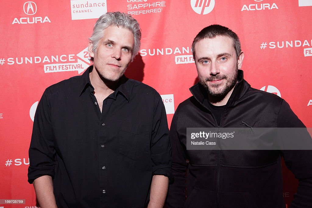 Writer/Director David Riker and journalist/author Jeremy Scahill attend the 'Dirty Wars' Premiere during the 2013 Sundance Film Festival at Eccles Center Theatre on January 18, 2013 in Park City, Utah.