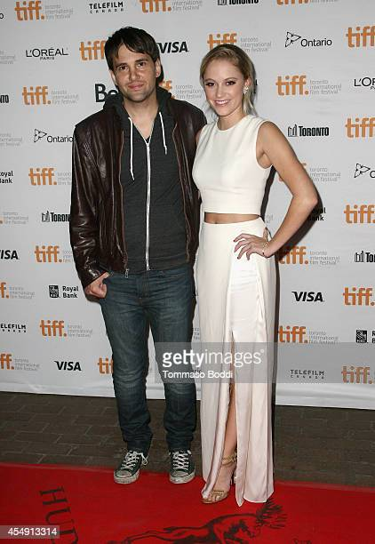 Writer/director David Robert Mitchell and actress Maika Monroe attend the 'It Follows' premiere during the 2014 Toronto International Film Festival...