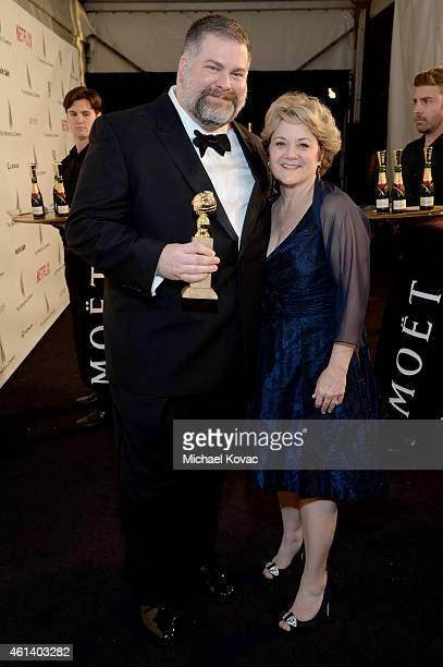 Writer/director Dean DeBlois and producer Bonnie Arnold winners of Best Animated Feature Film for 'How to Train Your Dragon 2' attend The Weinstein...