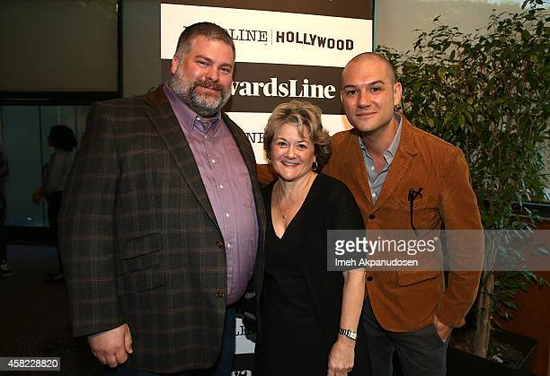 Writer/Director Dean DeBlois producer Bonnie Arnold and moderator Dominic Patten attend Deadline's The Contenders at DGA Theater on November 1 2014...