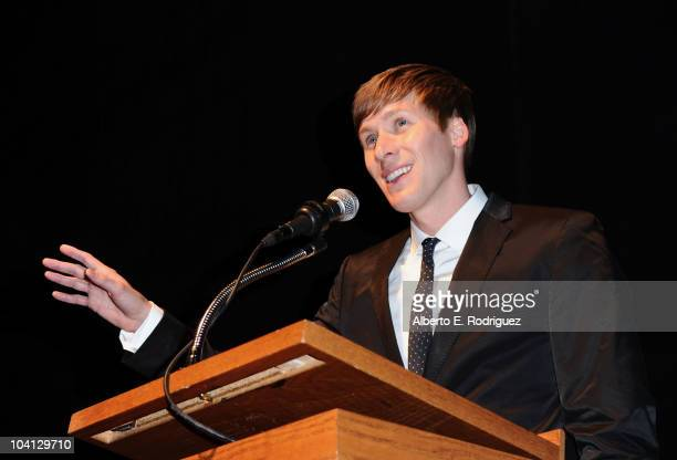 Writer/director Dustin Lance Black attends 'What's Wrong With Virginia' Premiere during the 35th Toronto International Film Festival at The Elgin on...