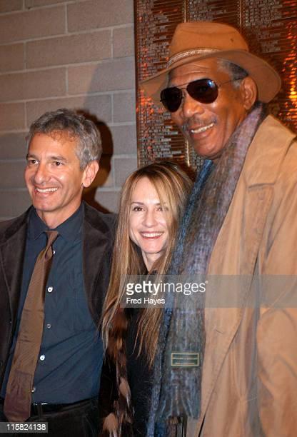 Writer/director Ed Solomon Holly Hunter and actor/executive producer Morgan Freeman