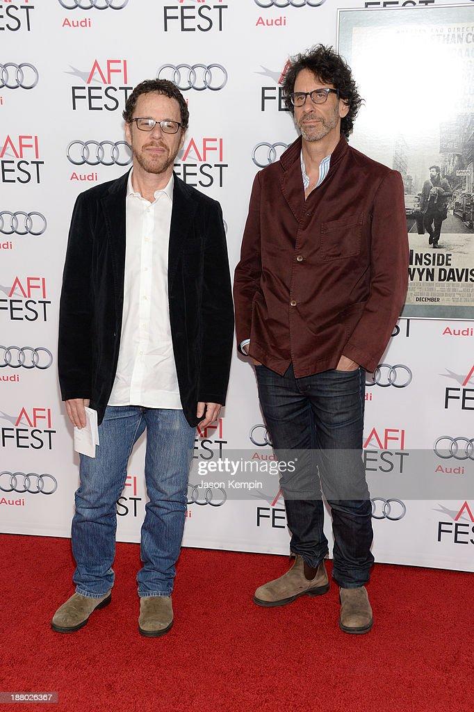 Writer/director Ethan Coen and writer/director Joel Coen attend the AFI FEST 2013 presented by Audi closing night gala screening of 'Inside Llewyn...