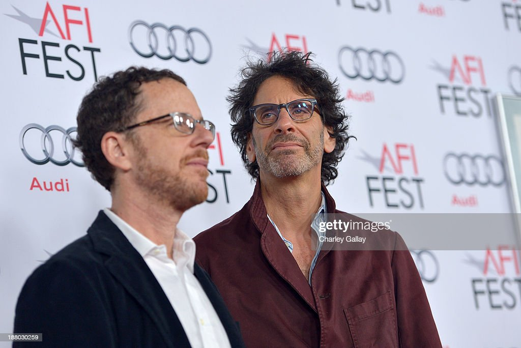 Writer/director Ethan Coen (L) and writer/director Joel Coen attend the 'Inside Llewyn Davis' Gala Screening during AFI FEST 2013 presented by Audi at TCL Chinese Theatre on November 14, 2013 in Hollywood, California.