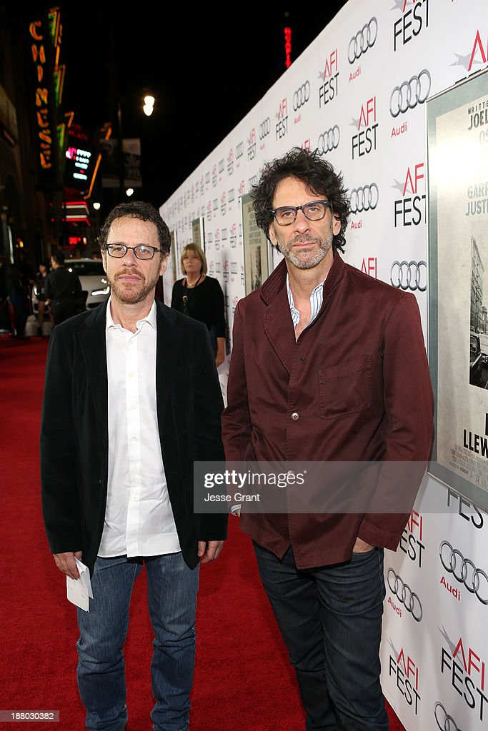 Writer/director <a gi-track='captionPersonalityLinkClicked' href=/galleries/search?phrase=Ethan+Coen&family=editorial&specificpeople=1130888 ng-click='$event.stopPropagation()'>Ethan Coen</a> (L) and writer/director <a gi-track='captionPersonalityLinkClicked' href=/galleries/search?phrase=Joel+Coen&family=editorial&specificpeople=4292064 ng-click='$event.stopPropagation()'>Joel Coen</a> attend the 'Inside Llewyn Davis' Gala Screening during AFI FEST 2013 presented by Audi at TCL Chinese Theatre on November 14, 2013 in Hollywood, California.