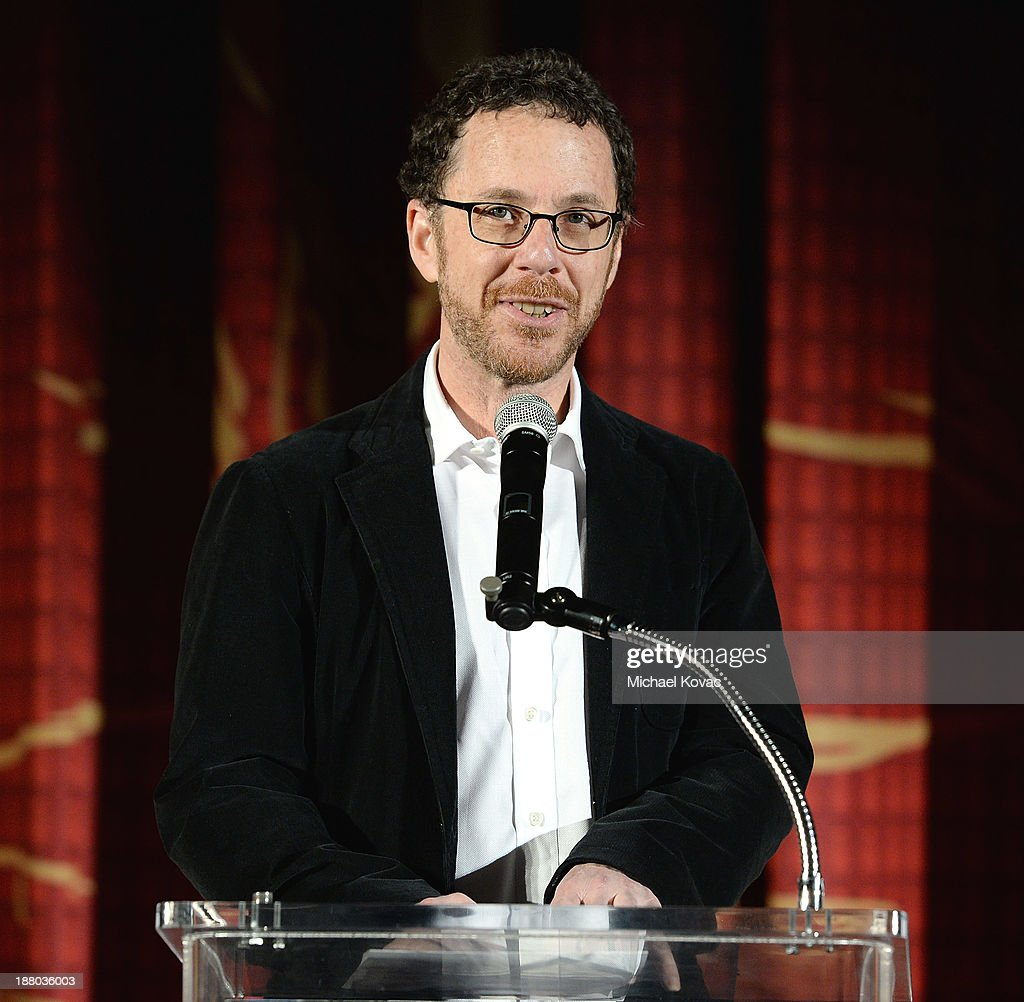 Writer/director <a gi-track='captionPersonalityLinkClicked' href=/galleries/search?phrase=Ethan+Coen&family=editorial&specificpeople=1130888 ng-click='$event.stopPropagation()'>Ethan Coen</a> introduces the AFI FEST 2013 presented by Audi closing night gala screening of 'Inside Llewyn Davis' at TCL Chinese Theatre on November 14, 2013 in Hollywood, California.