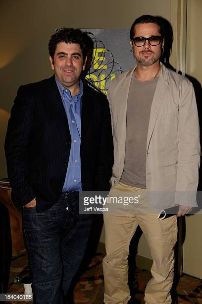 Writer/Director Eugene Jarecki and Executive Producer Brad Pitt attend 'The House I Live In' Los Angeles Screening at Sundance Cinema on October 12...
